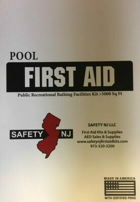 New Jersey Public Recreational Bathing Facilities First Aid Kit OVER 5000 sq. ft.