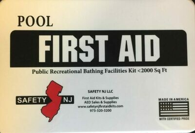 New Jersey Public Recreational Bathing Facilities First Aid Kit  under 2000 sq. ft.