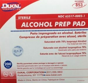 "Alcohol Wipe-Ups - 1"" x 2"" - 200/box, Alcohol Swabs, Certified 221-025"