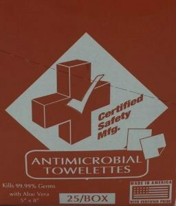 Antimicrobial Towelettes - Certified (221-020) 25/box