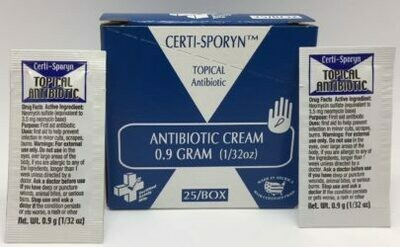 Antibiotic Cream - Certi-Sporyn - 0.9 g - Certified (233-358) 25/box