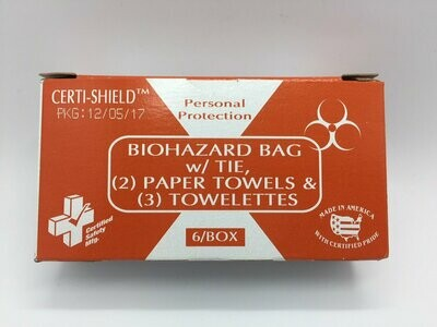 Biohazard Bag and Towelettes - 904X Certi-Shield- Certified (216-080)