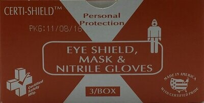 Eye Shield, Mask and Gloves -902X Certi-Shield- Certified (216-078)