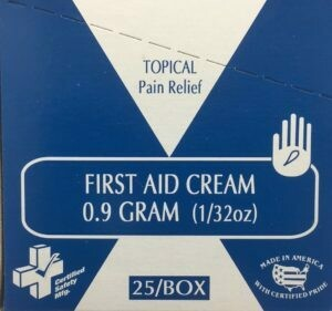 First Aid Cream - 1g -Certified (233-319) 25/box