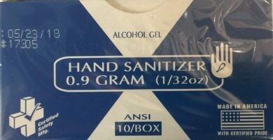 Hand SANITIZER 0.9 Gram (1/32 oz) 10/Box Certified # 735