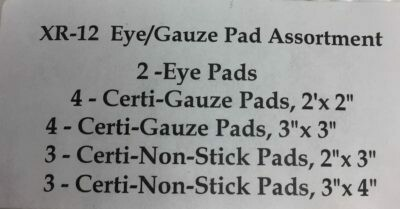 XR-12 Eye/Gauze Pad Assortment - Certified Safety