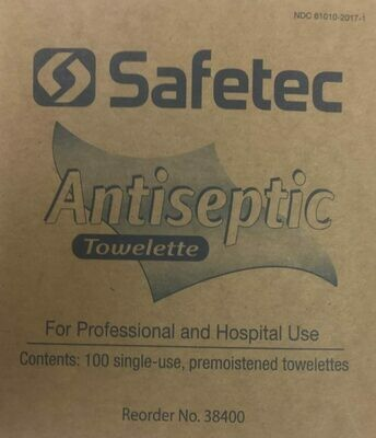 Safetec Antiseptic Towellete 100 per box