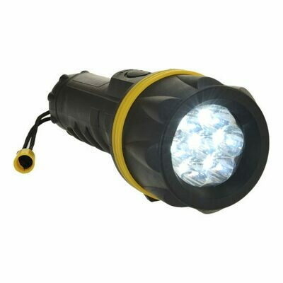 Flashlights - 7 LED Rubber Flashlight (PORTWEST)