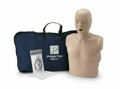 Prestan Professional Adult CPR-AED Training Manikin Without CPR Monitor (Available in Multiple Skin Colors and Quantities)