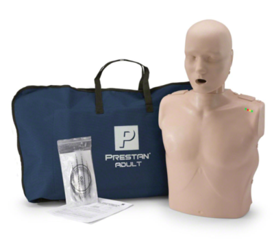 Prestan Professional Adult CPR Manikin with CPR Monitor (Quantity and Skin Color Options)