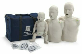 Prestan Professional CPR-AED Training Manikin (with CPR Monitor) Collection (Available in Multiple Skin Colors)