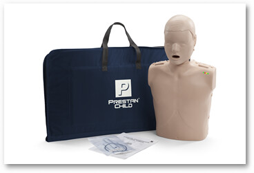 Prestan Professional Child CPR-AED Training Manikin With CPR Monitor (Avaliable in Multiple Skin Color and Quantities)