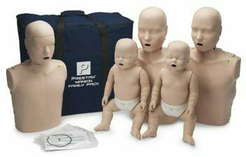 Prestan Professional CPR-AED Training Manikin (With CPR Monitor) Family Pack (Available in Multiple Skin Colors)
