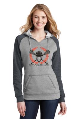 District ® Women's Lightweight Fleece Raglan Hoodie