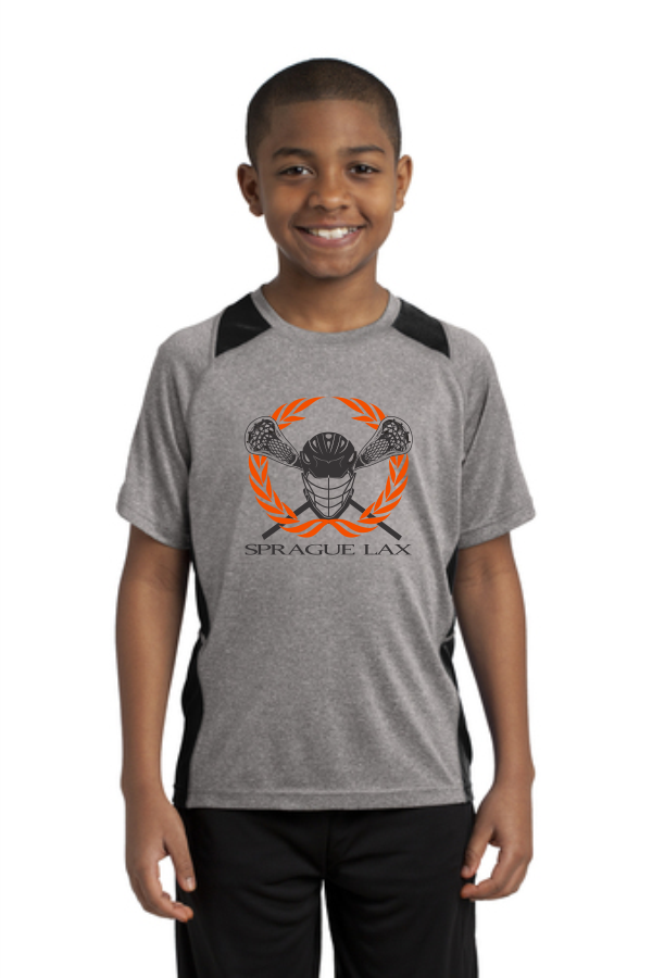 Sport-Tek® Youth Heather Colorblock Contender™ Tee
