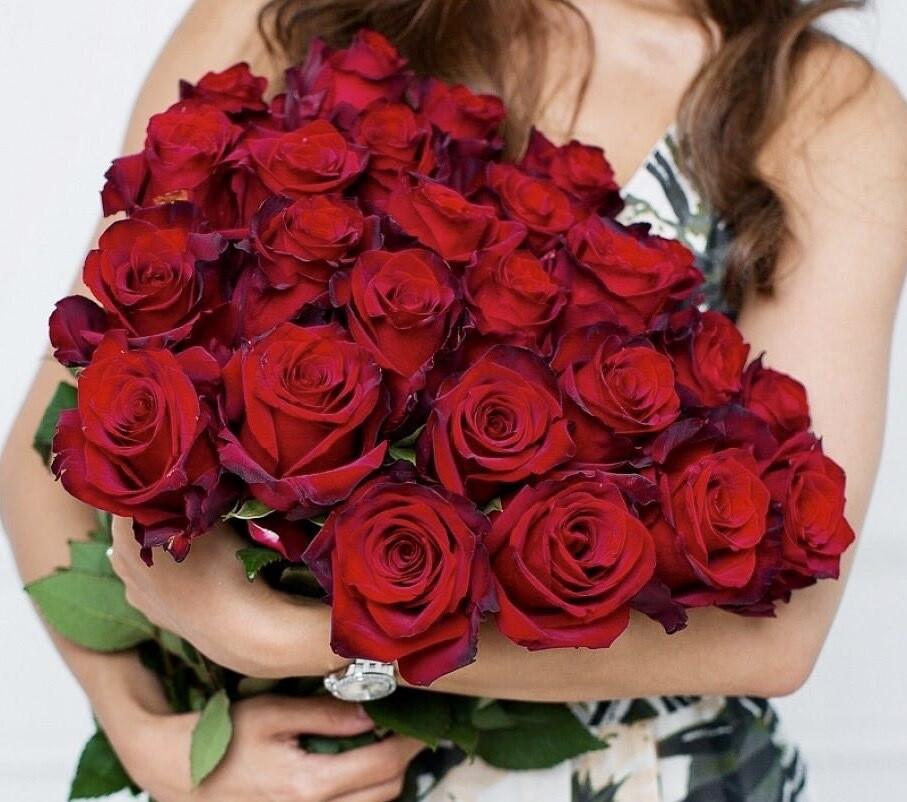 Букет из 25 роз Эквадор Эксплорер 60 см.