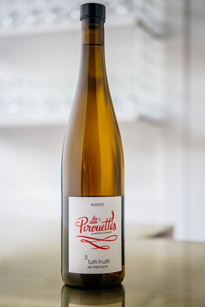 2016 Les Vins Pirouettes Tutti Frutti de Stephene Pinot Gris, Gewürztraminer, Auxerrois, Pinot Blanc and Muscat