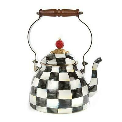Courtly Check Enamel Tea Kettle - 2qt