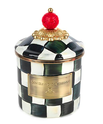 Courtly Check Enamel Canister - Demi