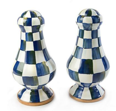 Royal Check Large Salt & Pepper Shakers