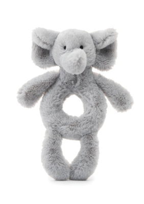 Bashful Grey Elephant Ring Rattle #BE4GR