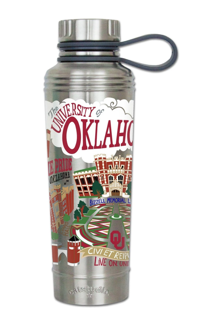 Oklahoma State Thermal Water Bottle
