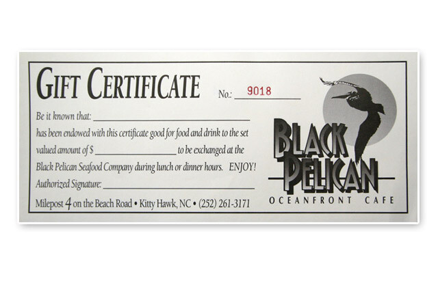Black Pelican Gift Certificate