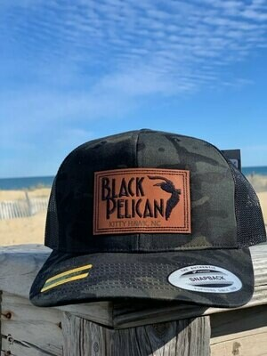 Black Camo Patch Hat