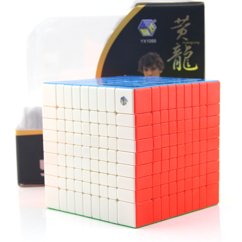 Головоломка YuXin HUANGLONG 9x9x9 color red
