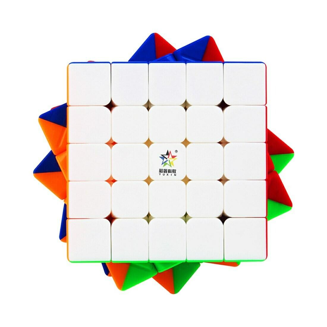 Головоломка YUXIN HUANGLONG 5x5x5 magnetic color