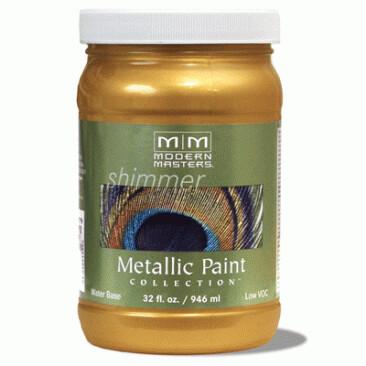 Краска с эффектом яркого металлика и перламутра Metallic paint