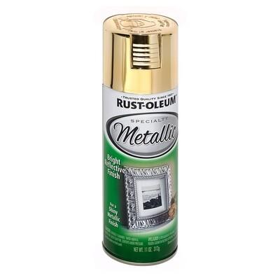 Аэрозольная краска с эффектом яркого металлика Specialty Metallic Spray, спрей. Расход 1-1.5 кв.м