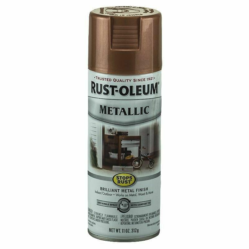 Эмаль антикоррозионная с эффектом металлик Stops Rust® Metallic Spray, спрей. Расход 1-1.5 кв.м