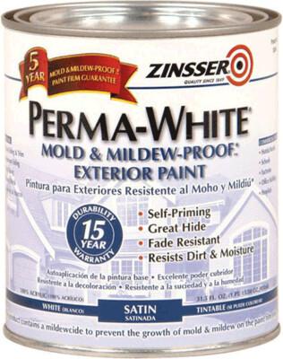 Супер белая краска для интерьера, самогрунтующаяся PERMA-WHITE Mold & Mildew-Proof™* Interior Paint