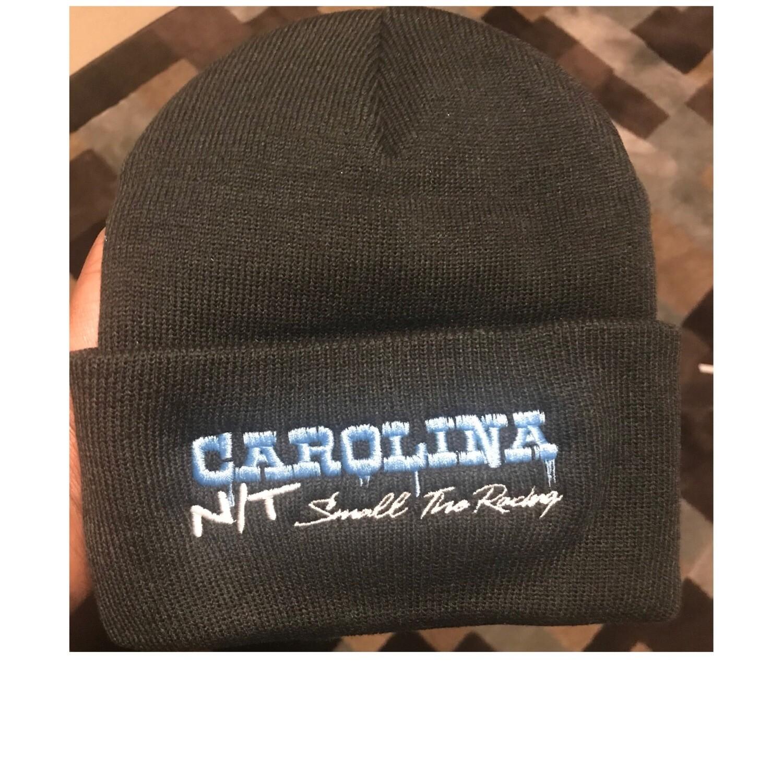 BLACK/CAROLINA BLUE BEANIE