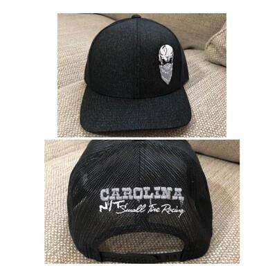 DARK GREY/SLIVER SKULL TRUCKER HAT