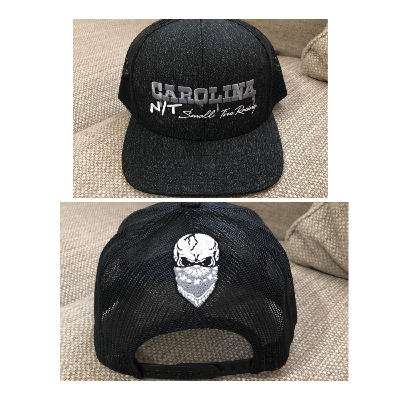 DARK GREY/SLIVER LETTERS TRUCKER HAT