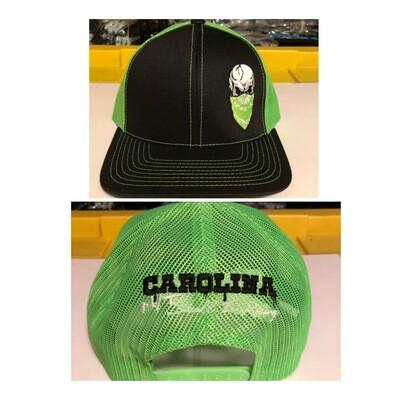 NEON GREEN/BLACK TRUCKER HAT