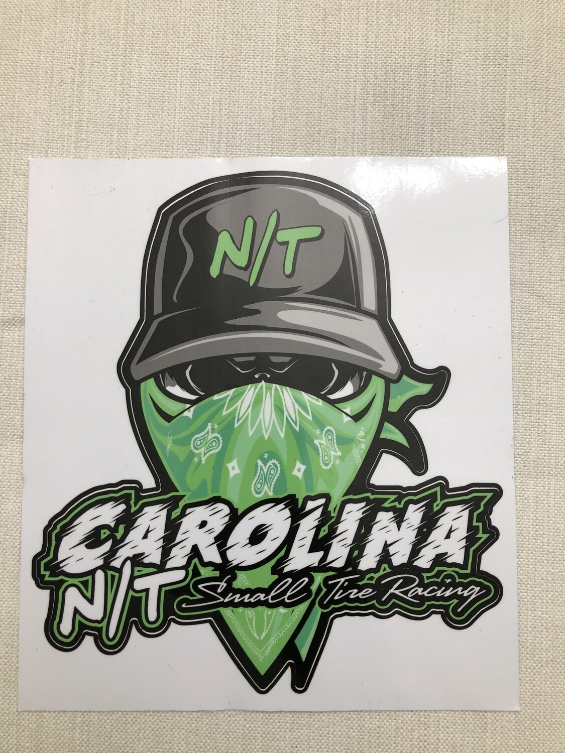 GREEN BALL CAP BANDIT DECAL