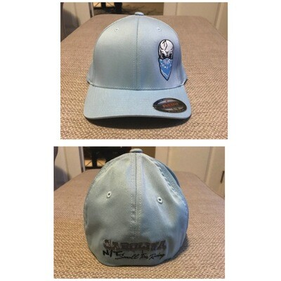 CAROLINA BLUE FLEX FIT BLUE SKULL