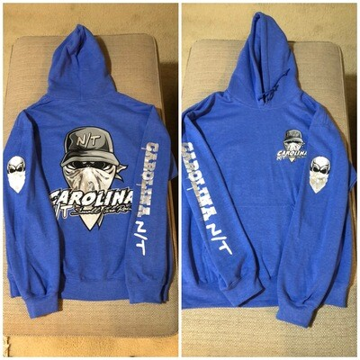 HEATHER BLUE/SILVER BALL CAP BANDIT HOODIE