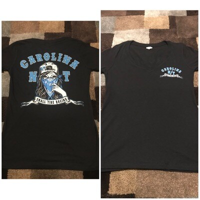 V-NECK LADY BANDIT BLACK/BLUE