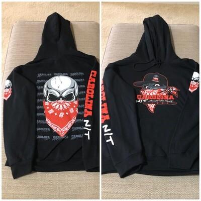 Big Skull Red/Black HOODIE