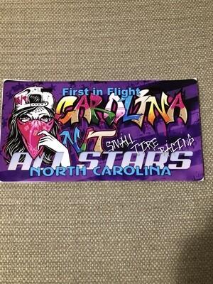 Lady Bandit License plate Purple Graffiti Decal