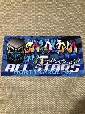 Big Skull Black/Blue Graffiti license plate decal