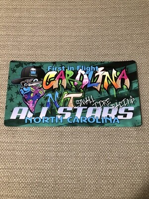 OG Bandit Graffiti Blue/Green License plate Decal