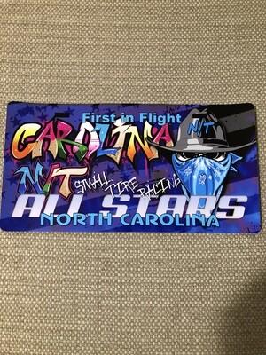 Cowboy Bandit Carolina Blue /Graffiti license plate Decal