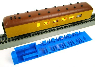 C10 Custom Interior for Roundhouse 50/' Overland Combine Coaches HO Scale