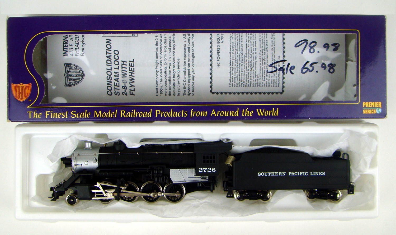 IHC Premier M9538 Southern Pacific 2-8-0 Consolidation Locomotive HO Scale