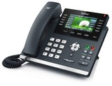 Yealink SIP-T46G SIP-телефон,  цветной экран, 6 линий, BLF, PoE, GigE, БЕЗ БП